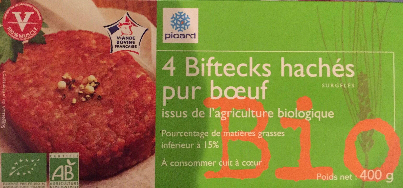 4 biftecks hachés pur boeuf - Product - fr