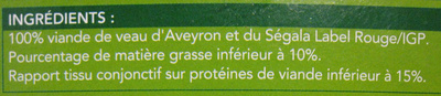 4 escalopes de veau haché - Ingrédients - fr