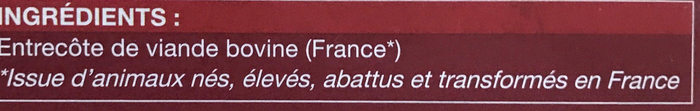 4 Entrecôtes. Boîte De 700 Grammes - Ingredients - fr