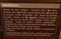 Boudins Blancs aux Morilles - Ingrédients - fr