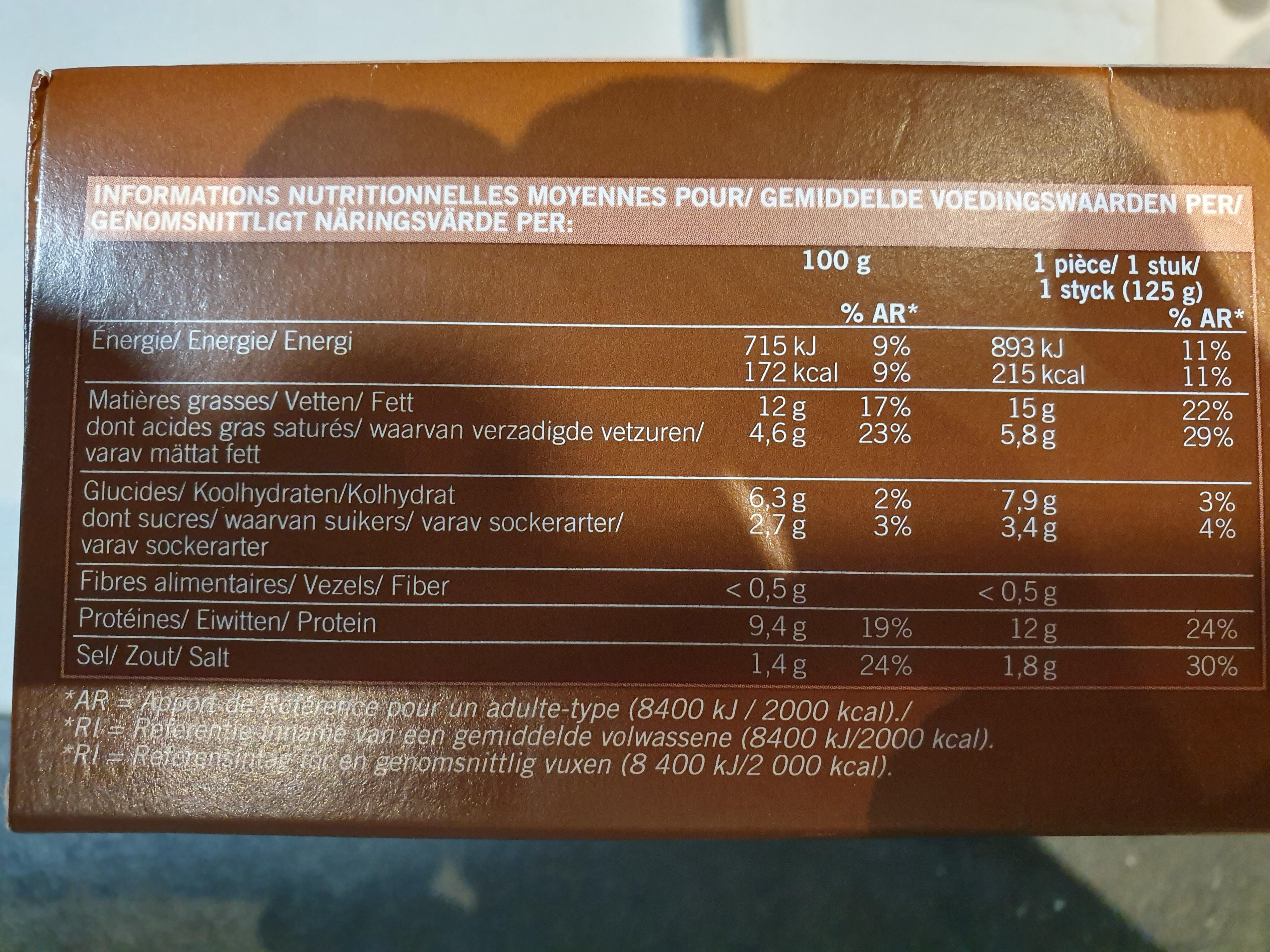 Boudins Blancs aux Morilles - Informations nutritionnelles - fr