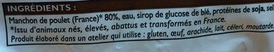 Manchons de poulets rôti surgelés - Ingrédients - fr