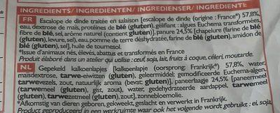 Escalopes de dinde à la viennoise - Ingrediënten