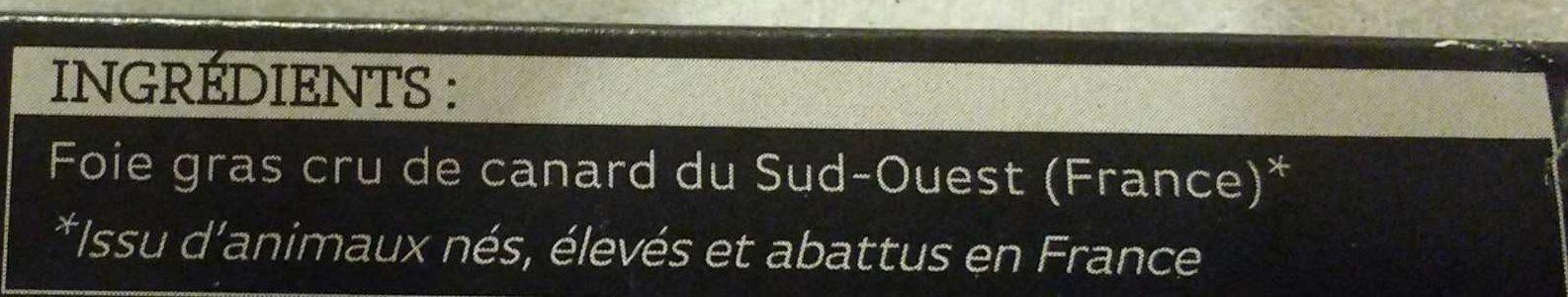 Foie Gras Cru de Canard Du Sud-Ouest - Ingrédients