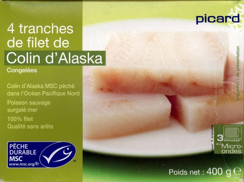4 Tranches de filet de Colin d'Alaska Picard - Produit - fr