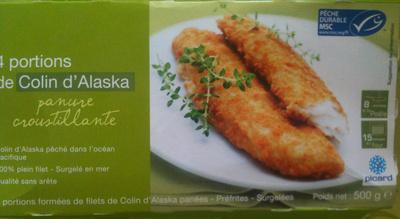Portions de Colin d'Alaska panées - Produit - fr