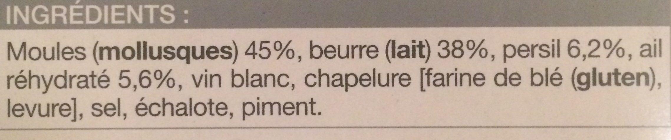 24 Moules Farcies, Boîte De 250 Grammes - Ingrediënten - fr