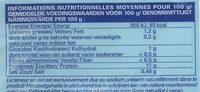 Noix de Saint-Jacques avec corail - Informations nutritionnelles - fr