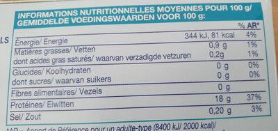 2 Dos de Colin lieu - Informations nutritionnelles - fr