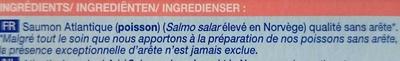 2 pavés de saumon Atlantique - Ingrédients - fr