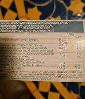 4 filets de cabillaud panure croustillante - Valori nutrizionali - fr