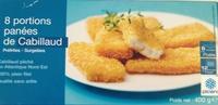 8 portions panées de cabillaud - Produit