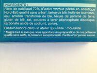 8 portions panées de cabillaud - Ingrédients
