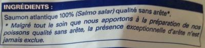 4 portions de filets de saumon atlantique surgelé - Ingredients - fr