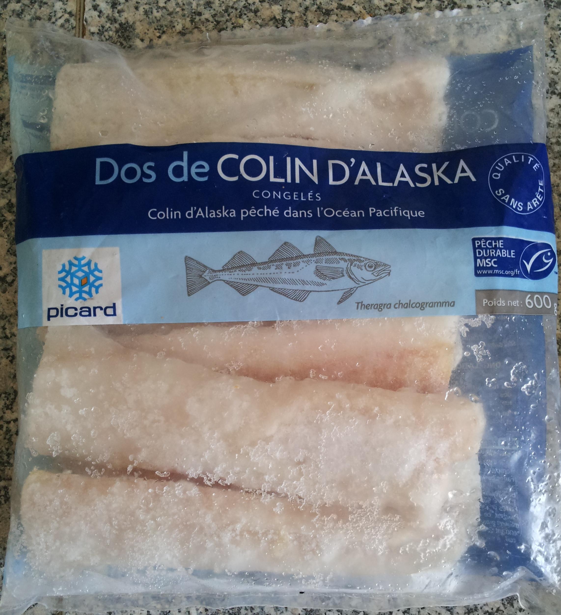 Dos de colin d 39 alaska picard 600 g - Cuisiner du colin surgele ...