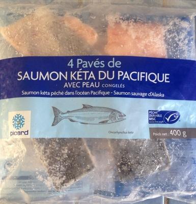 4 Pavés de Saumon Kéta du Pacifique, avec peau, congelés - Produit