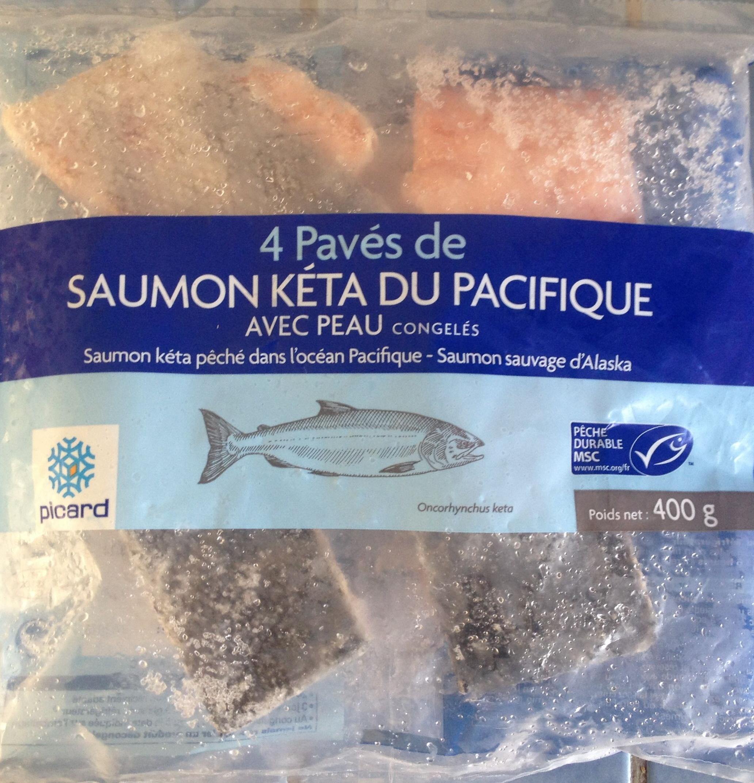 4 pav s de saumon k ta du pacifique avec peau congel s picard 400 g. Black Bedroom Furniture Sets. Home Design Ideas