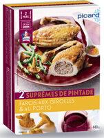2 suprêmes de pintade farcis aux girolles et au porto - Produit - fr