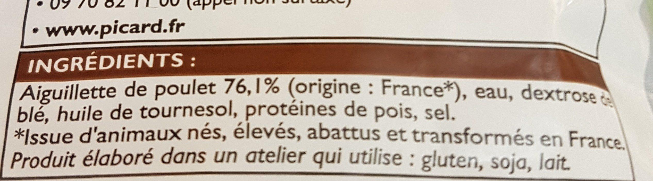 Aiguillettes de poulet coupées rôties - Ingredienti - fr