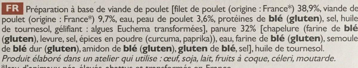 Bâtonnets de poulet - Ingrédients - fr
