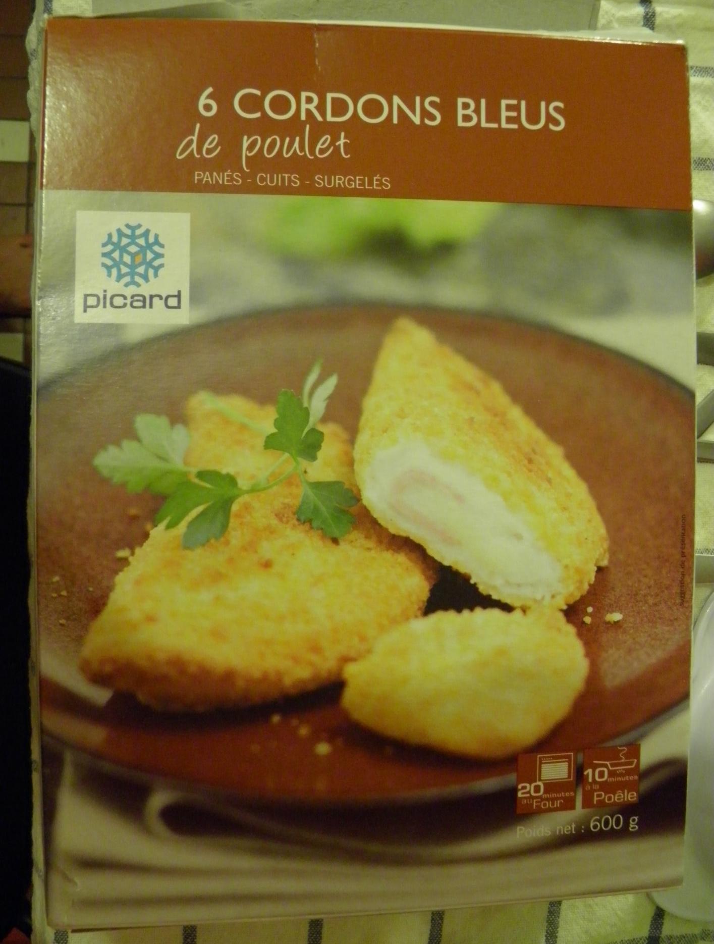 Cordons bleus de poulet picard - Product - fr