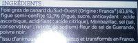 Alliance de Foie Gras de Canard du Sud-Ouest et de Figues - Ingrédients
