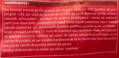 Riz à la cantonaise - Ingrediënten