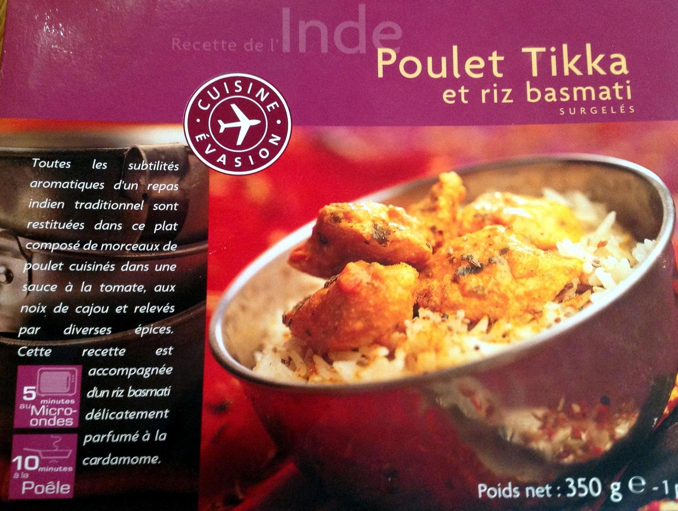 Poulet Tikka et riz basmati - Produit - fr