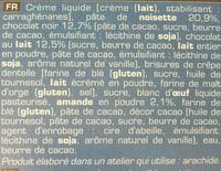 Croquant au chocolat - Ingrédients - fr