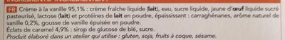 Crèmes brûlées à la vanille - Ingrédients - fr