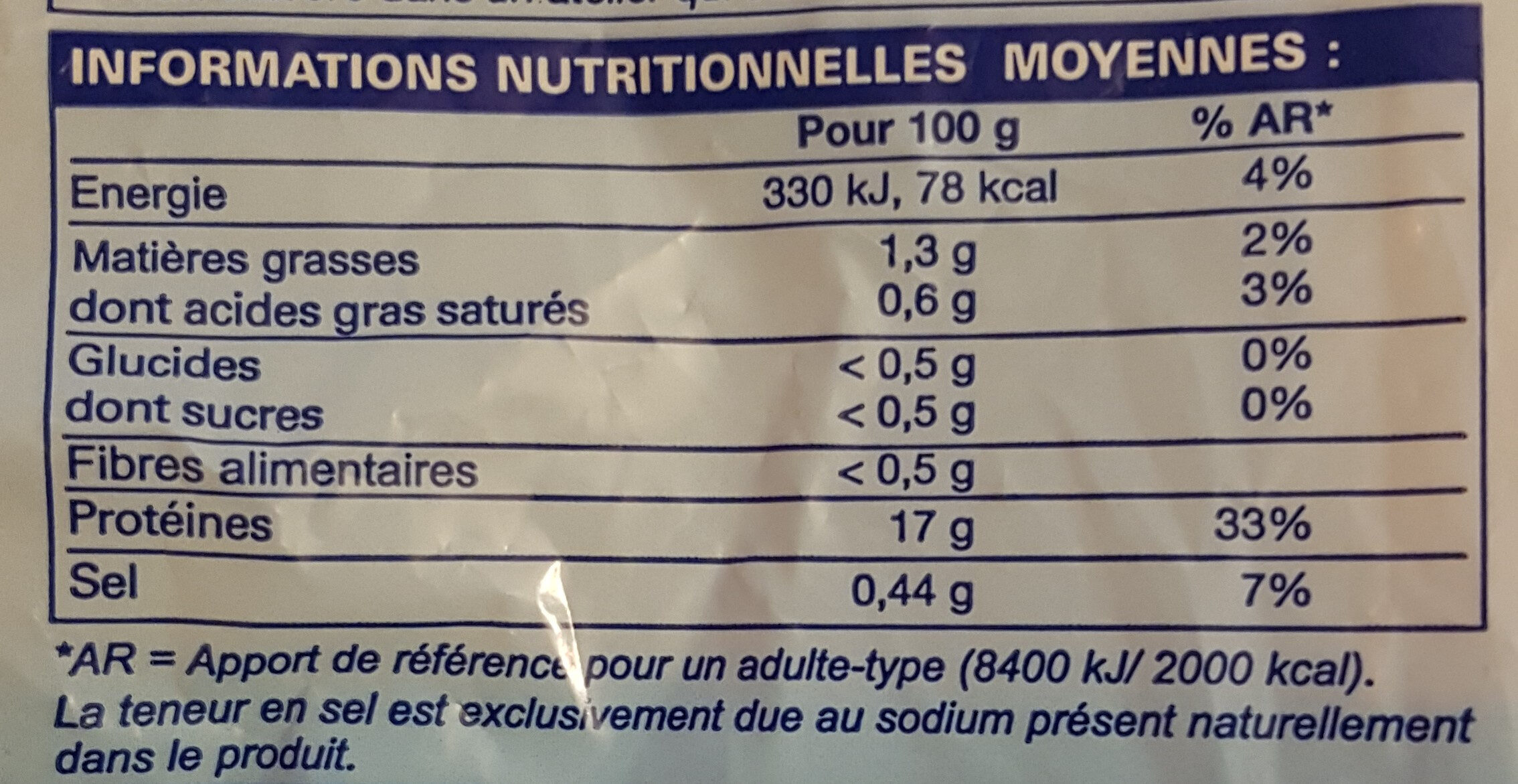 Filets de rouget-barbet Cinnabare - Voedingswaarden - fr