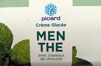 Crème Glacée Menthe avec Copeaux de Chocolat - Produit
