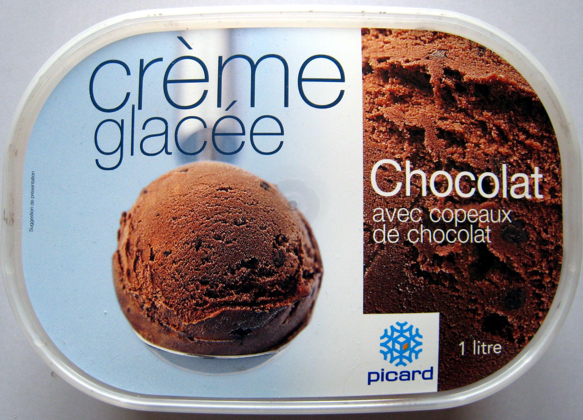 Crème glacée Chocolat avec copeaux de chocolat Picard - Produit