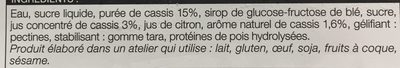Sorbet Cassis - Ingredients