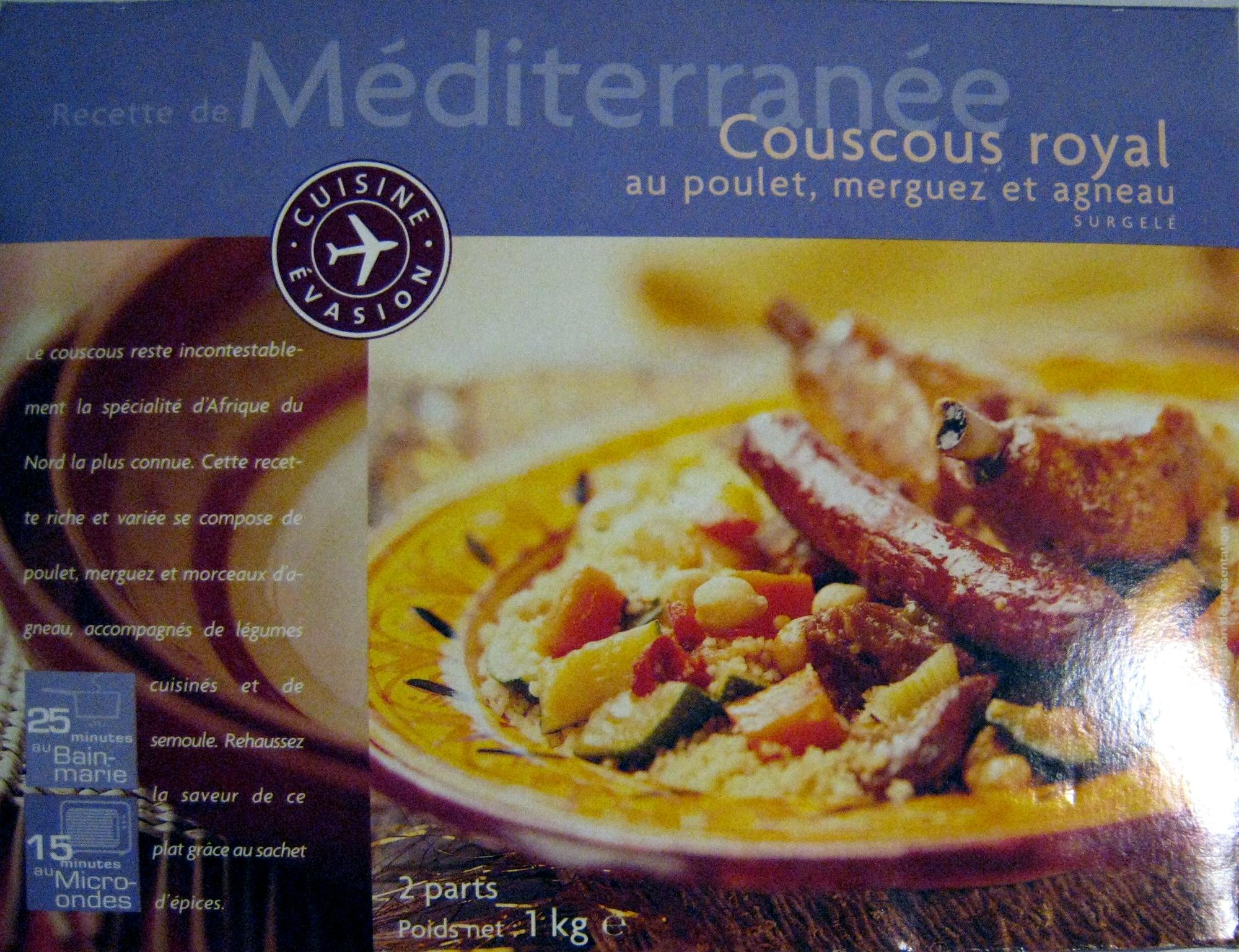 Couscous Royal au Poulet, Merguez et Agneau - Produit