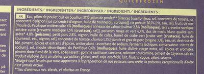 Paella au poulet et aux fruits de mer - Ingrédients - fr