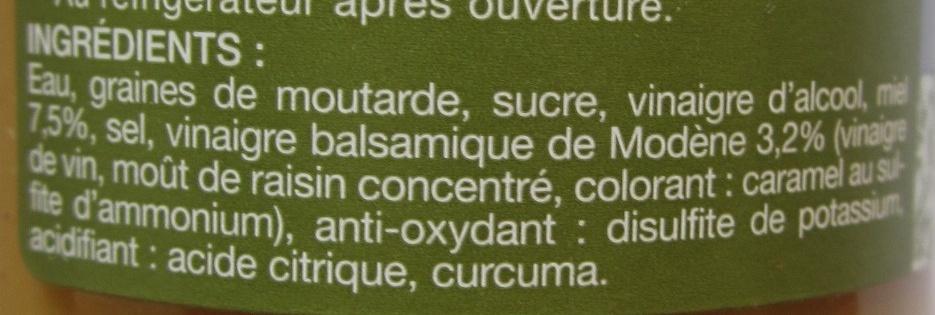 Moutarde au miel et au vinaigre balsamique - Ingredients - fr