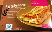 2 galettes au sarrasin jambon - emmental - Produit