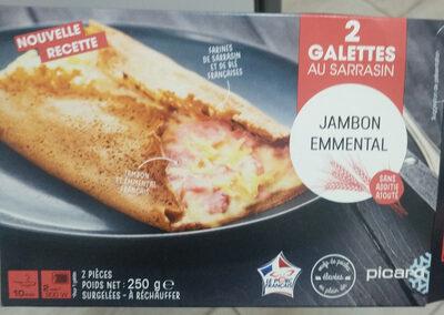 2 galettes jambon-emmental - Produit - fr