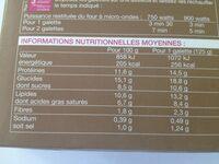 2 galettes au sarrasin jambon - emmental - Informations nutritionnelles