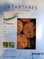 4 tartares de saumon à la ciboulette - Product - fr