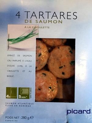 4 tartares de saumon à la ciboulette - Product