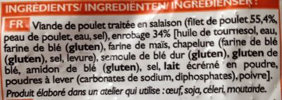 Nuggets de poulet panés - Ingrediënten - fr
