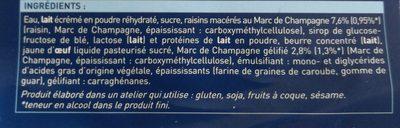 4 Coupes au Marc de Champagne - Ingredients - fr