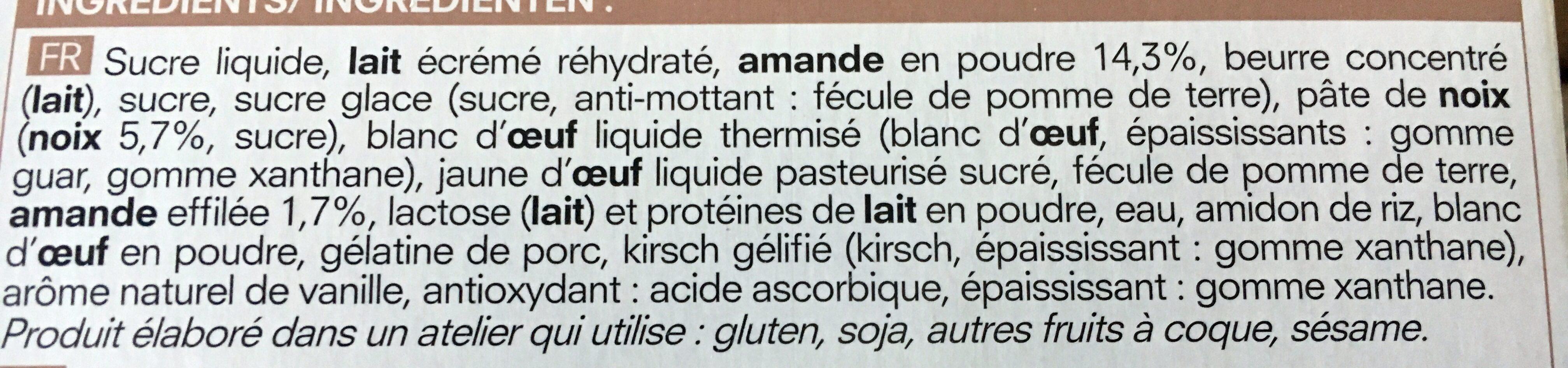 Succès aux Noix - Ingredients