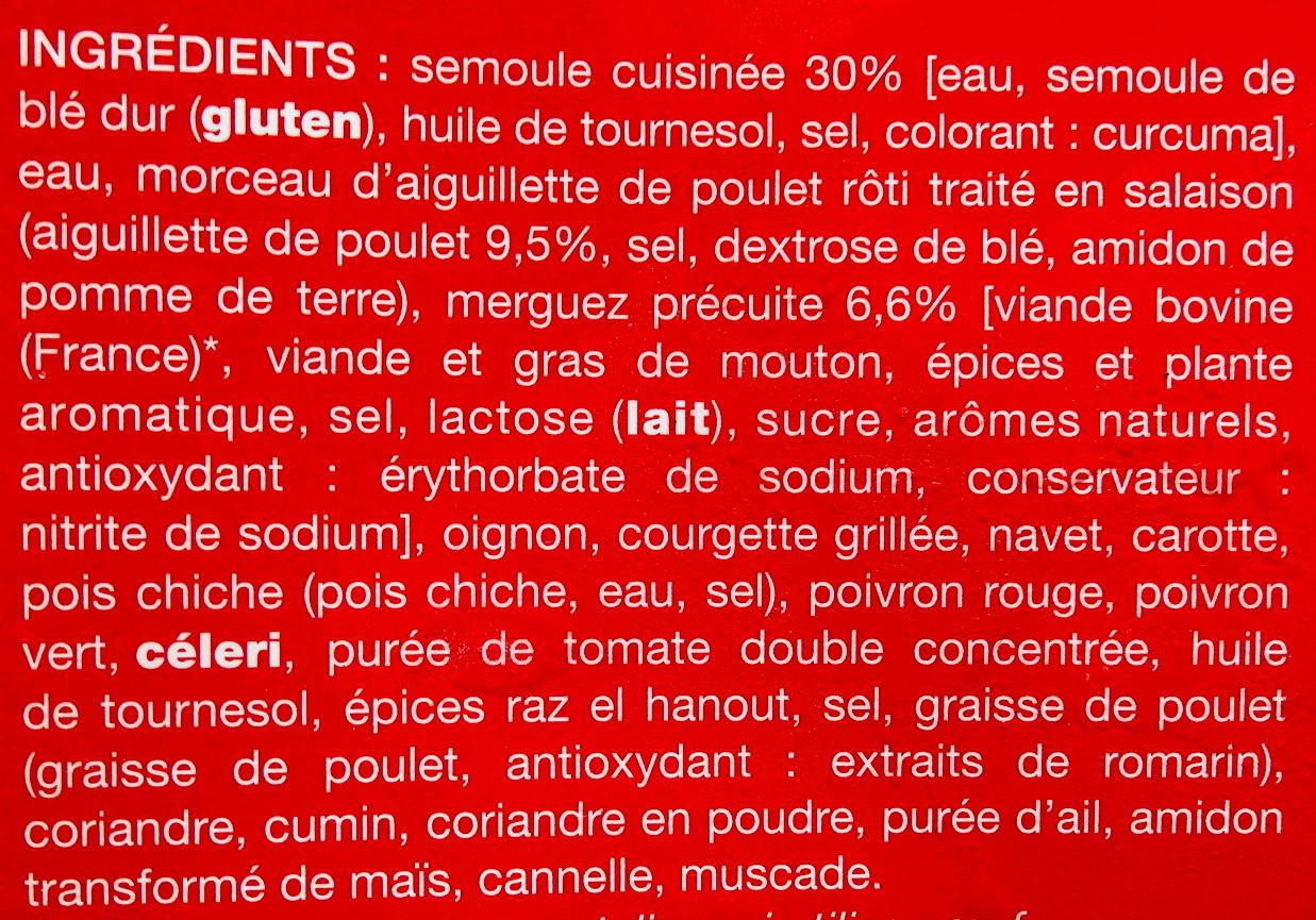 Couscous, Surgelé - Ingrédients - fr