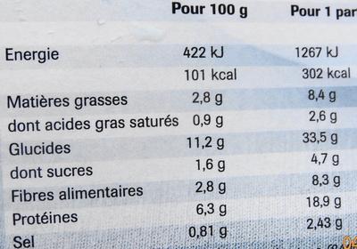 Couscous, Surgelé - Informations nutritionnelles
