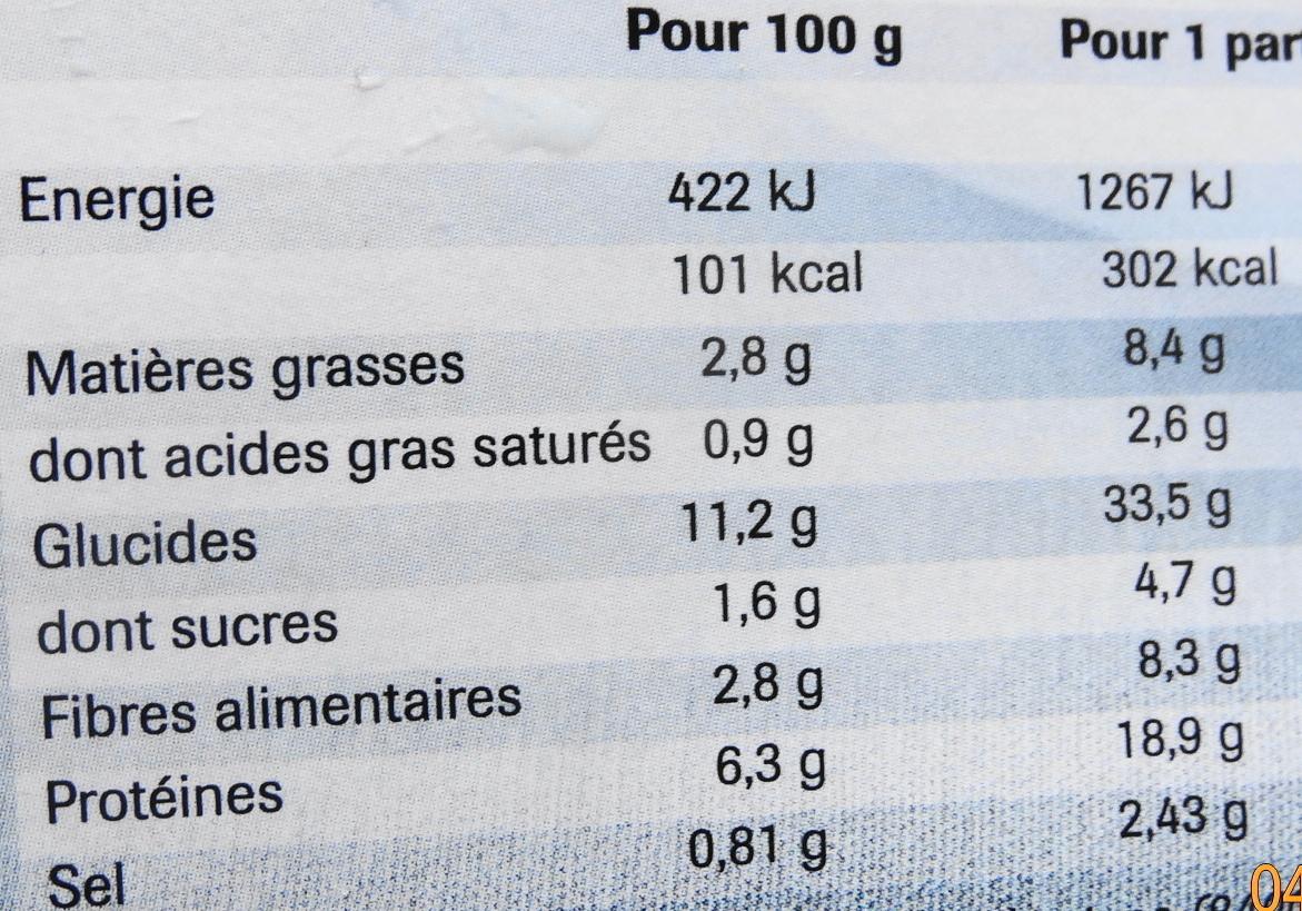 Couscous, Surgelé - Informations nutritionnelles - fr