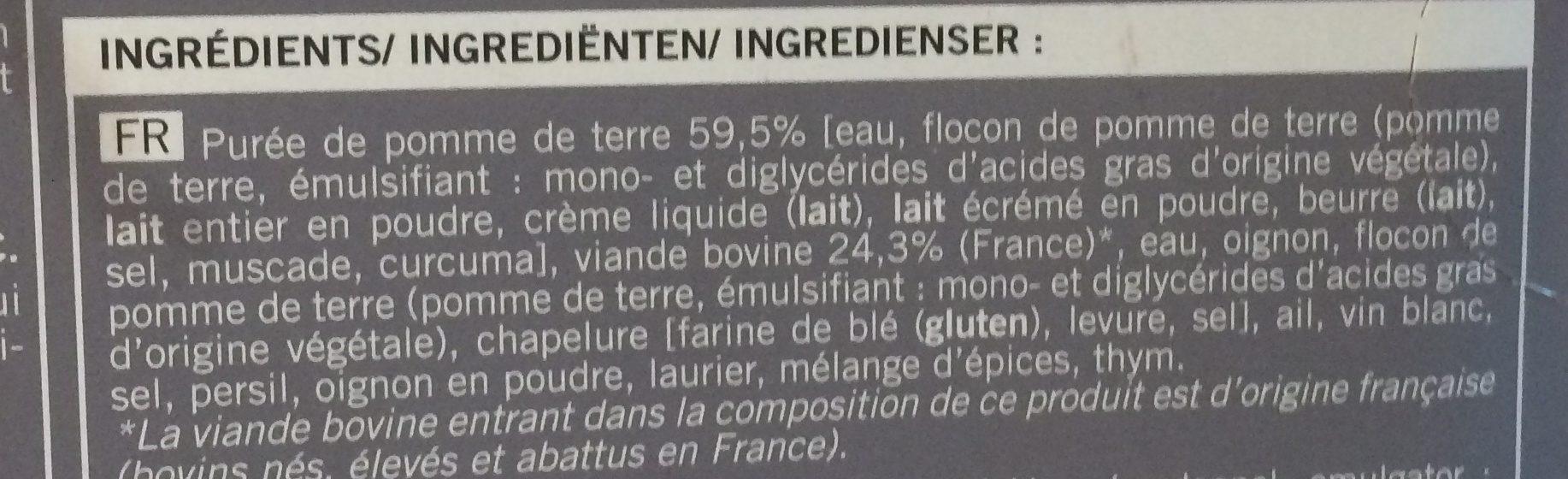 Hachis Parmentier, Boîte De 400 Grammes - Ingrédients - fr