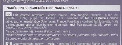lasagnes à la bolognaise picard - Ingrédients - fr